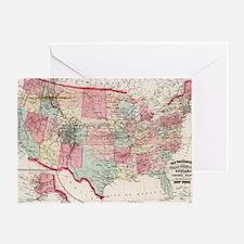 Cool Us history Greeting Card
