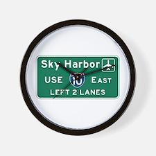 Sky Harbor, Phoenix Airport, AZ Road Si Wall Clock