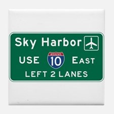 Sky Harbor, Phoenix Airport, AZ Road Tile Coaster