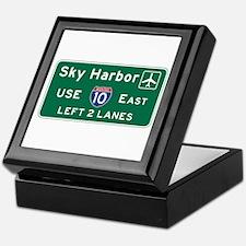 Sky Harbor, Phoenix Airport, AZ Road Keepsake Box