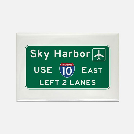 Sky Harbor, Phoenix Airport, AZ R Rectangle Magnet