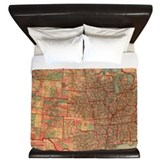 Map King Duvet Covers