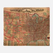 Cool United states map Throw Blanket