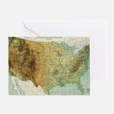 Cool Map of united states Greeting Card