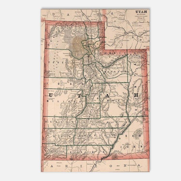 Cute Utah state Postcards (Package of 8)