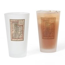 Cute Utah Drinking Glass