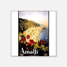 "Unique Amalfi italy coast Square Sticker 3"" x 3"""