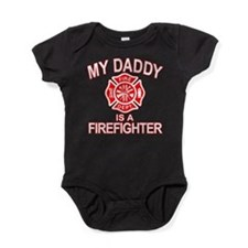 My Dad Is a Firefighter Baby Bodysuit