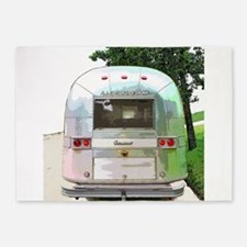 Vintage Airstream Pillow 5'x7'Area Rug