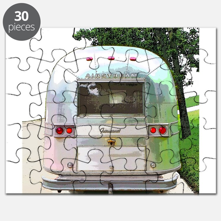 Vintage Airstream Pillow Puzzle