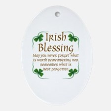 Unique Irish blessing Oval Ornament