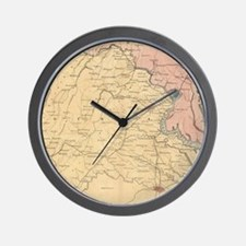 Unique Virginia map Wall Clock