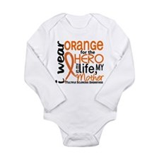 Unique I wear orange ribbon for my son in law Long Sleeve Infant Bodysuit