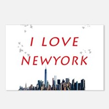 I Love Newyork Postcards (Package of 8)