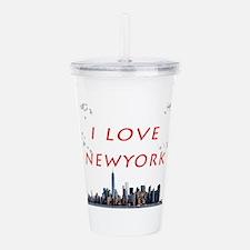 I Love Newyork Acrylic Double-wall Tumbler