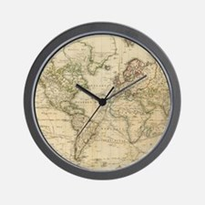 Cool Antique world map Wall Clock