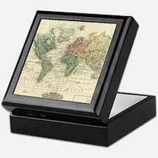 Funny Map of world Keepsake Box