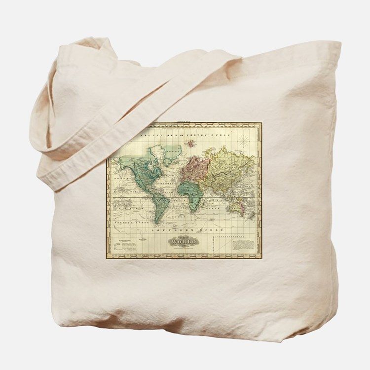 Cute Antique map Tote Bag