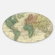 Cool Antique maps Sticker (Oval)