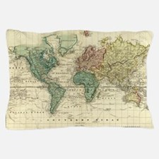 Cute World map Pillow Case