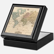 Unique Map of world Keepsake Box