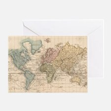 Funny Map of world Greeting Card