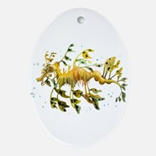 Leafy Sea Dragon Oval Ornament