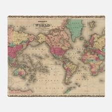 Cool World maps Throw Blanket