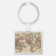 Unique Map of world Landscape Keychain