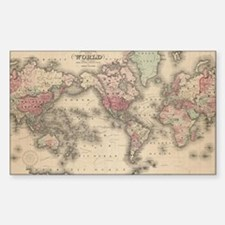 Antique world map Decal