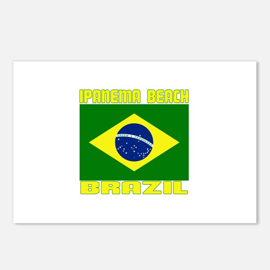 Ipanema Beach, Brazil Postcards (Package of 8)