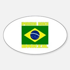 Ipanema Beach, Brazil Oval Decal