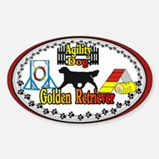 Funny Golden retriever agility Decal