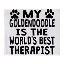 My Goldendoodle Is The Worlds Best Therapist Throw