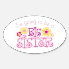 Im going to be a big sister flowers Decal