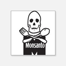"Cute Anti gmos Square Sticker 3"" x 3"""