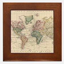 Map Framed Tile