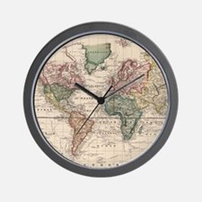 Cute Antique world map Wall Clock