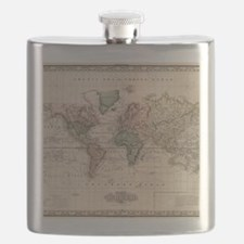 Funny Antique world map Flask