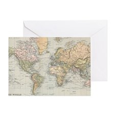 Unique Maps and places Greeting Card