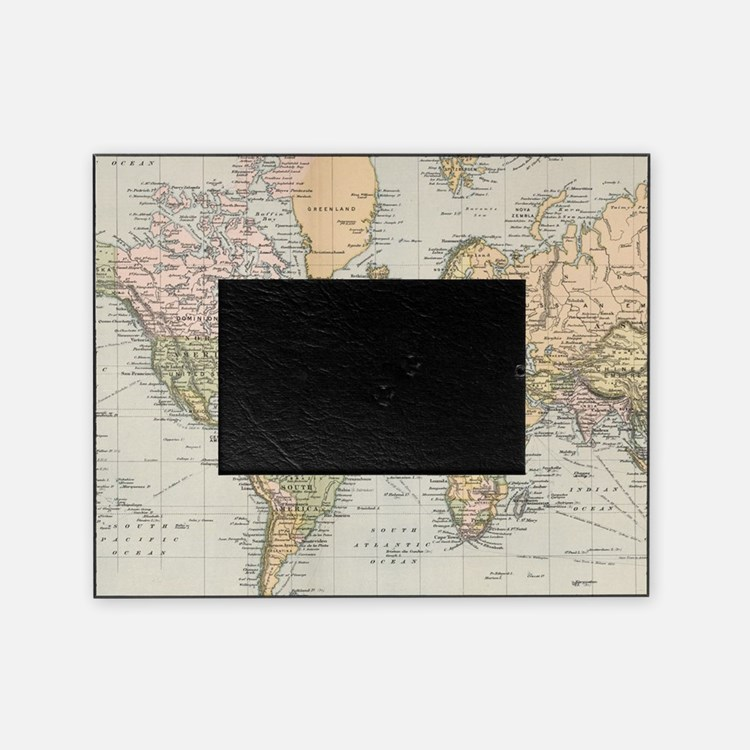 world map picture frames world map photo frames cafepress. Black Bedroom Furniture Sets. Home Design Ideas