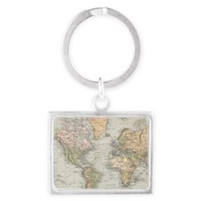 Unique Maps Landscape Keychain