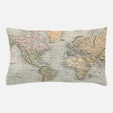 Unique Map Pillow Case
