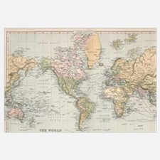 Unique World map Wall Art