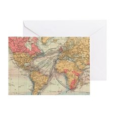 Cute Maps and places Greeting Card