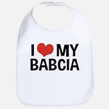 I Love My Babcia Bib