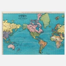 Unique World map Wall Art