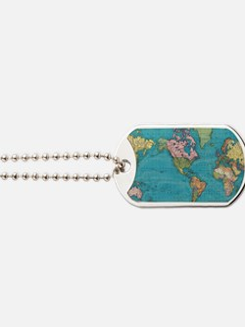 Cute World map Dog Tags