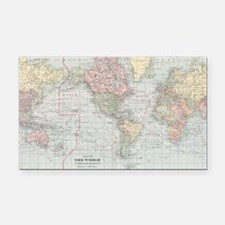 Funny Antique world map Rectangle Car Magnet