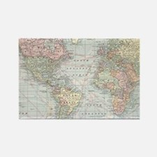 Cute Map of the world Rectangle Magnet